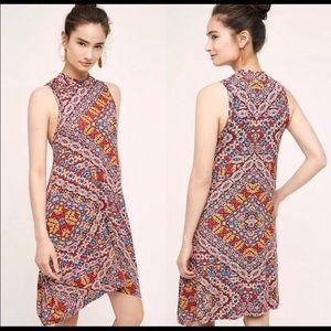 Maeve Lilt mock neck printed sleeveless dress, S
